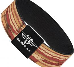 Buckle-Down Elastic Bracelet - Bacon Stacked