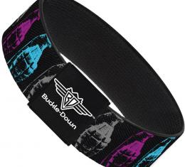 Buckle-Down Elastic Bracelet - Grenades Black/Gray/Purple/Baby Blue
