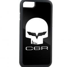 Rubber Cell Phone Case - BLACK - C6R Jake Skull FCG Black/White
