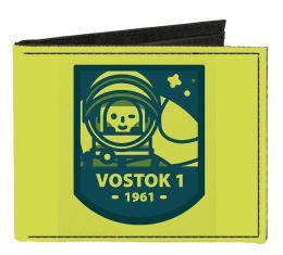 Canvas Bi-Fold Wallet - VOSTOK 1-1961 Cosmonaut Greens/Blues