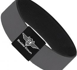 Buckle-Down Elastic Bracelet - Charcoal