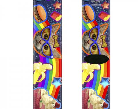 Sock Pair - Polyester - Pets & Snacks Rainbow Collage - CREW