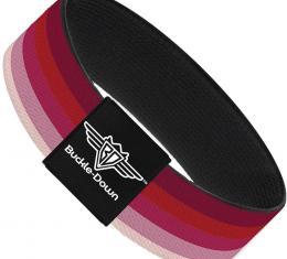 Buckle-Down Elastic Bracelet - Spectrum Pink