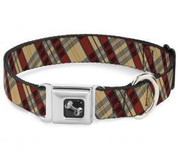 Buckle-Down Seatbelt Buckle Dog Collar - Americana Plaid X