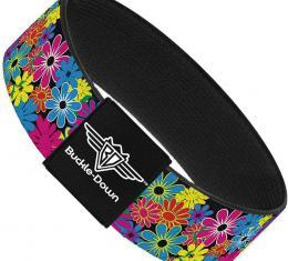 Buckle-Down Elastic Bracelet - Flower Blossom