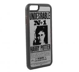 Rubber Cell Phone Case - BLACK - Harry Potter UNDESIRABLE NO 1 Brushed Silver