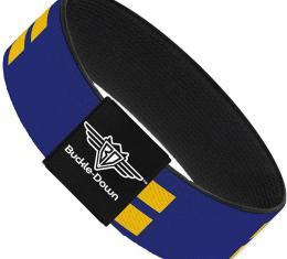 Buckle-Down Elastic Bracelet - Flag Equality Blue/Yellow
