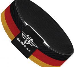 Buckle-Down Elastic Bracelet - Germany Flag Weathered