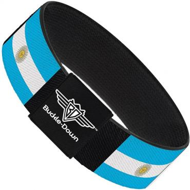 Buckle-Down Elastic Bracelet - Argentina Flags