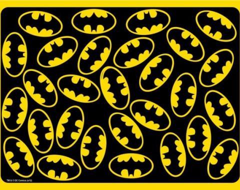 Placemat - Batman Logo Scattered Black/Yellow