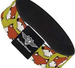 Buckle-Down Elastic Bracelet - Fox Face Scattered Warm Olive2