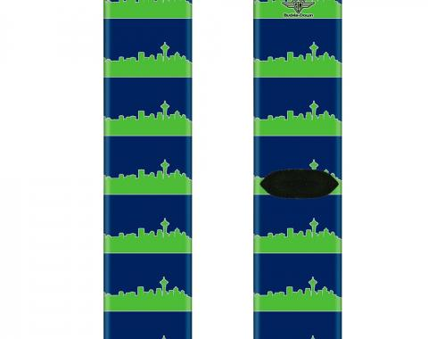 Sock Pair - Polyester - Seattle Skyline Navy/Gray/Green - CREW
