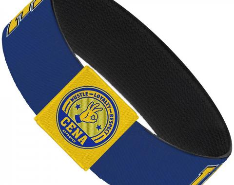 "Elastic Bracelet - 1.0"" - John Cena U CAN'T SEE ME Logo Blue/White/Black/Yellow"