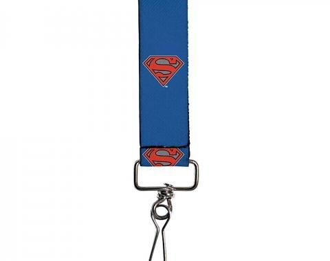 "Key Fob - 1.0"" - Superman Shiled/New 52 Pose Blue"