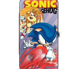 SONIC COMIC   Hinged Wallet - Sonic Comic #62 Sonic Runnning & Tails Flying