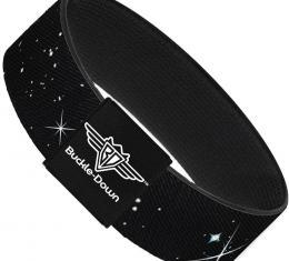 Buckle-Down Elastic Bracelet - Deep Space Black/White