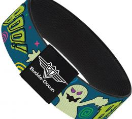Buckle-Down Elastic Bracelet - Ghost BOO! Blue/Multi Color