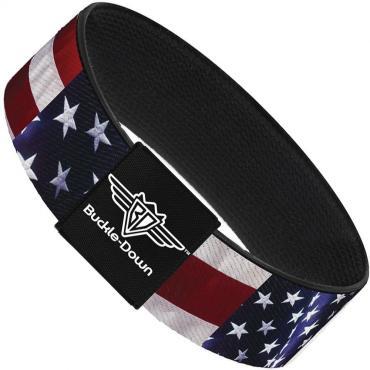 Buckle-Down Elastic Bracelet - American Flag Vivid C/U
