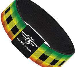 Buckle-Down Elastic Bracelet - Buffalo Plaid Rasta
