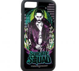 Rubber Cell Phone Case - BLACK - SUICIDE SQUAD Joker Cane Pose/HAHAHA/Diamonds FCG Black/Gray/Greens/Purple/White