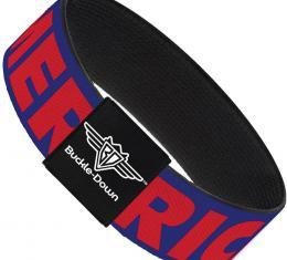 Buckle-Down Elastic Bracelet - MERICA/Star Blue/Red/White
