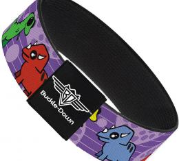Buckle-Down Elastic Bracelet - Dinosaur Cartoon
