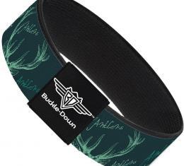 Buckle-Down Elastic Bracelet - Antlers Turquoise