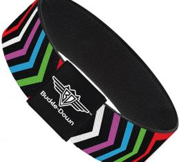 Buckle-Down Elastic Bracelet - Arrows Black/Multi Color