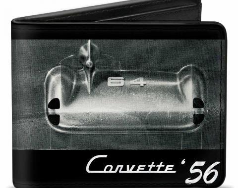 Bi-Fold Wallet - CORVETTE '56 SS Bumper + Grill Black/Grays/White
