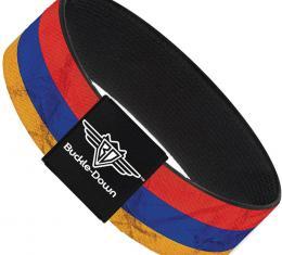 Buckle-Down Elastic Bracelet - Armenia Flag Distressed