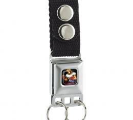 SEGA GENESIS  Keychain - STREETS OF RAGE Pixelated Axel Stone Pose Full Color Black
