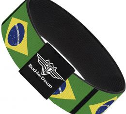 Buckle-Down Elastic Bracelet - Brazil Flags
