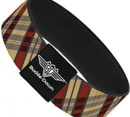 Buckle-Down Elastic Bracelet - Americana Plaid X