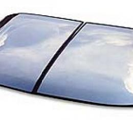 Corvette Roof Panels, T-Top, Mirrored Glass, Silver, 1968-1982