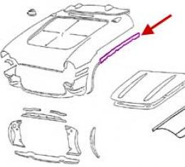 Corvette Bonding Strip, Upper Surround To Side Fender, Left,1956-1957