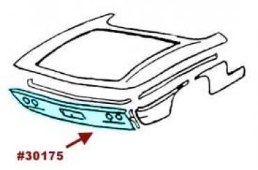 Corvette Taillight Panel, White, Press Molded, 1961-1962
