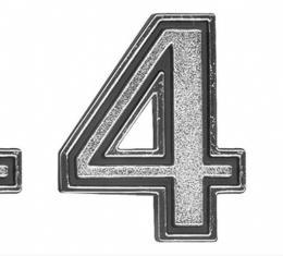 Cutlass Header Panel Letters 4-4-2, 1969-1970