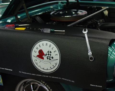 Fender Gripper® Cover, Black with Corvette C1 Logo