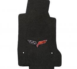 Lloyd Mats 2007-2013 Chevrolet Corvette Corvette 2007.5-2013.5 2 Piece Mats Ebony Velourtex C6 Logo 620011