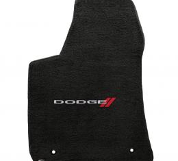 Lloyd Mats 2011-2019 Dodge Charger Charger 2011-on Rwd 4 Piece Mats Ebony Velourtex Dodge Logo 620033