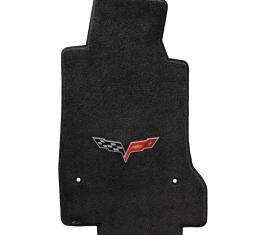 Lloyd Mats 2005-2007 Chevrolet Corvette Corvette 2005-2007.5 2 Piece Mats Ebony Ultimat C6 Logo 600012