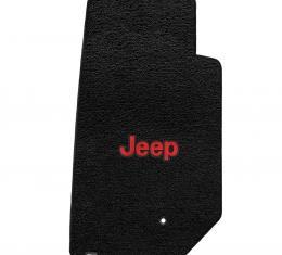 Lloyd Mats 2007-2013 Jeep Wrangler Jeep Wrangler 2007-2013 2 Piece Front Black Ultimat Red Jeep Logo 600062
