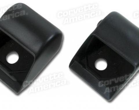 Corvette Seat Belt Retractor Covers, Black (20), 1966-1967