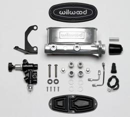Wilwood Brakes Aluminum Tandem M/C Kit with Bracket and Valve 261-13269-P