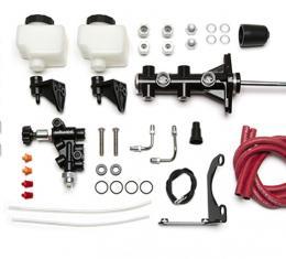 Wilwood Brakes Remote Tandem M/C Kit w/Pushrod, Bracket and Valve 261-14249-BK