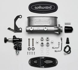 Wilwood Brakes Aluminum Tandem M/C Kit with Bracket and Valve 261-13270