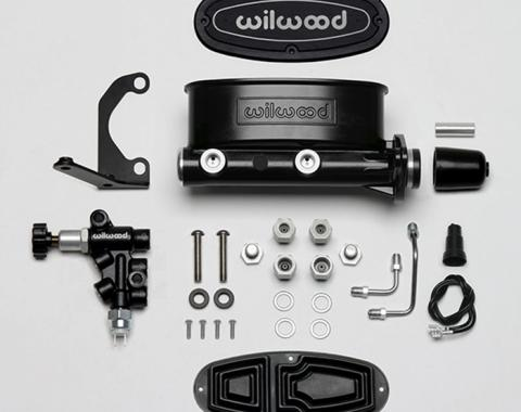 Wilwood Brakes Aluminum Tandem M/C Kit with Bracket and Valve 261-13269-BK