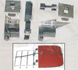 Corvette Luggage Rack T-Top Holder Bracket Set, 1968-1977