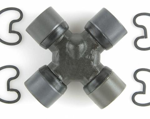 Moog Chassis 231C, Universal Joint, Spicer 1350 (SPL30), With Outside Retaining Clips, With 4 Round Plain Bearing, 1.188 Inch Bearing Cup Size, 3.652 Inch Outside Yoke Span, Steel, Non Greaseable