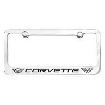 Corvette Elite License Frame, 97-04 Corvette Word with Dual Logo